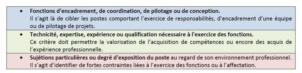RIFSEEP : critères IFSE