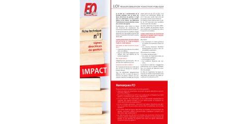 Fiche FO : lignes directrices de gestion